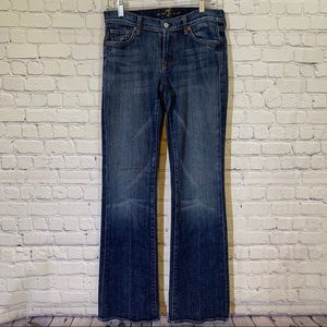 7 for all man kind distressed flare jeans